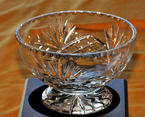 First-place crystal bowl