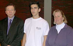 Mike, Semih and his teacher Karen Hickey