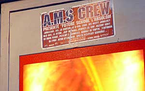 AMS Crew sign in the Paris Metro
