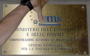 AMS sign in Florence