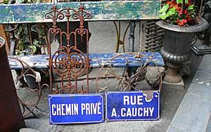 Rue A. Cauchy street sign