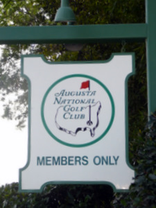 Sign outside Augusta National