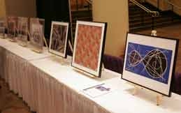 Mathematical artworks on exhibit