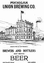 The MR Building in 1902, Michigan Union Brewing Co.