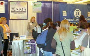 Action at the AMS booth