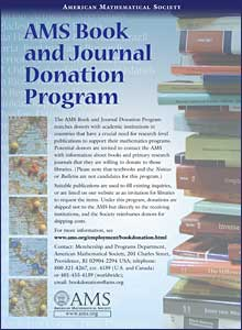 AMS Book & Journal Donation Program