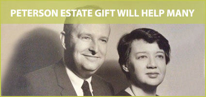 Peterson estate gift will help many