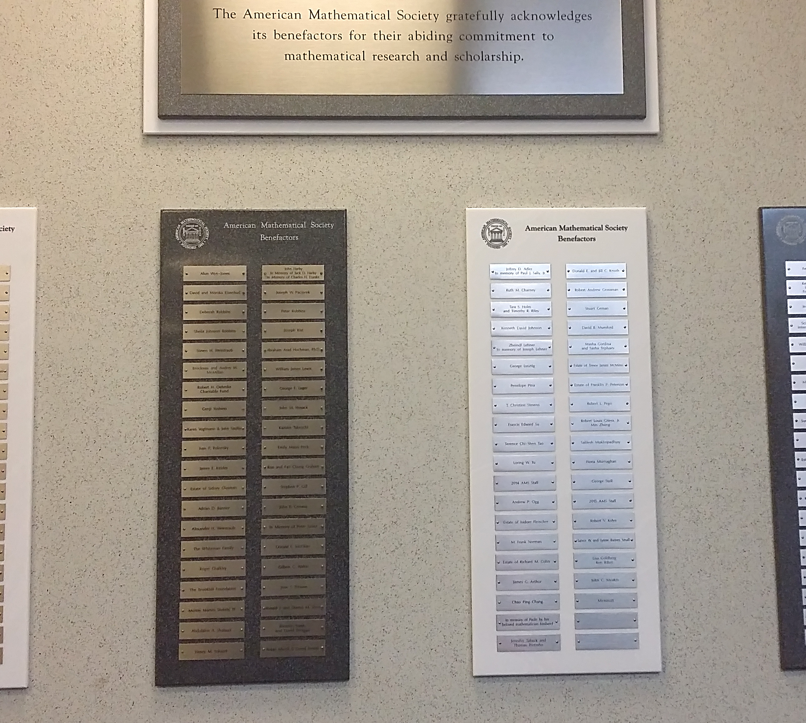donor wall plaques