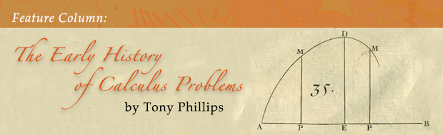 May Feature Column: The Early History of Calculus Problems