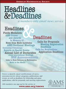 Headlines & Deadlines email news service for AMs members only