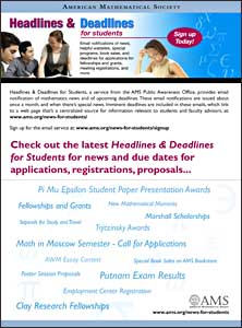Headlines & Deadlines for Students