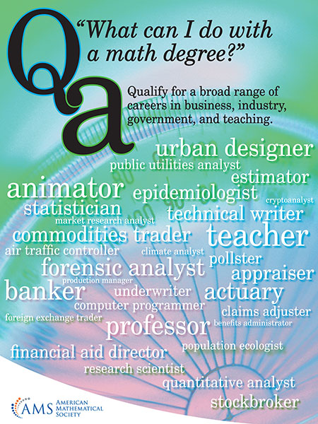 what can I do with a math degree? poster