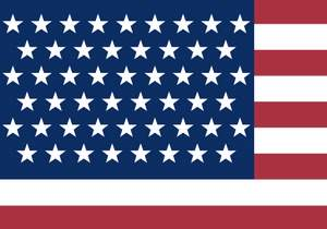 American flag with 51 stars