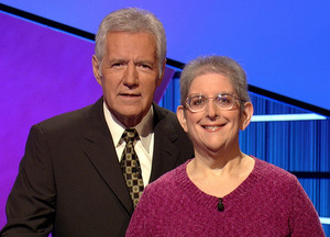 Ilene Morgan and Alex Trebek