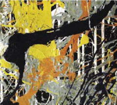 Part of a Jackson Pollock painting