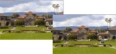 Images of Stanford math building, one done using compressed sensing