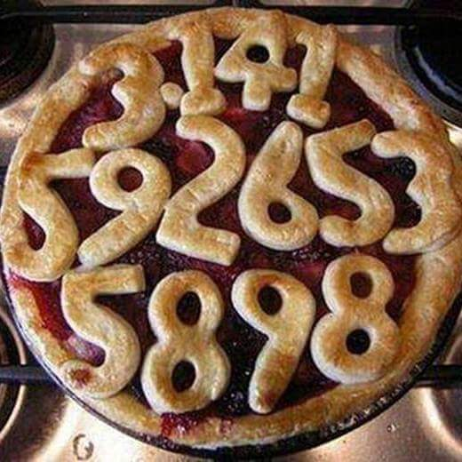 Pie with digits of Pi