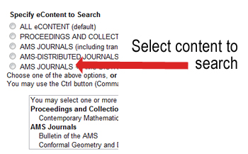 Specify journals to search
