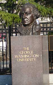 Bust of George Washington near University entrance