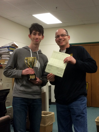 Sam Korsky and teacher Steve Goodman