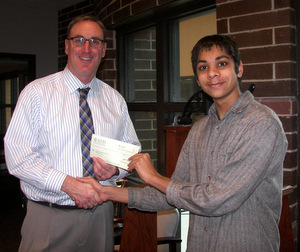 Principal Brett Potts and Shyam Narayanan