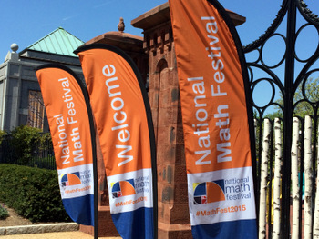 National Math Festival banners