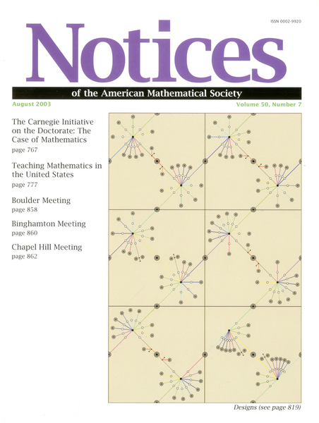 NOTICES OF THE AMERICAN MATHEMATICAL SOCIETY on