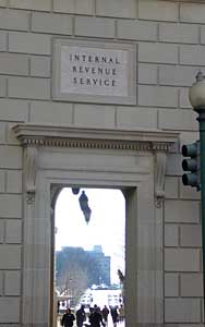 Part of the IRS building