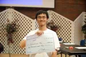 Xiaotian with his winnings