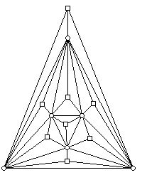 Pyramids drawn on the faces of the graph in Figure 7
