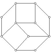 A regular octogon tiled by rhombuses
