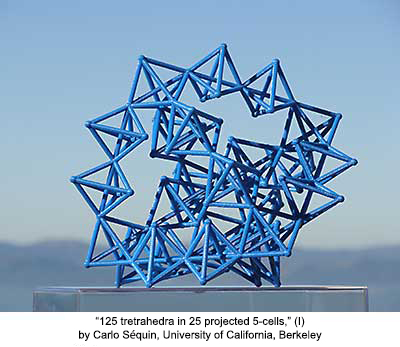 125 tetrahedra in 25 projected 5-cells(I)