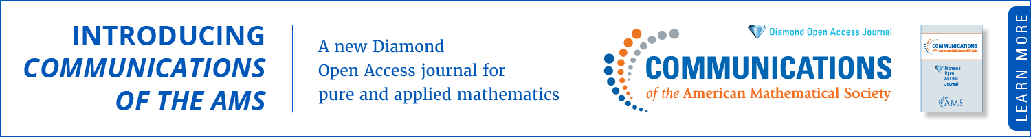 Introducing Communications of the AMS. A new Diamond Open Access journal for pure and applied mathematics
