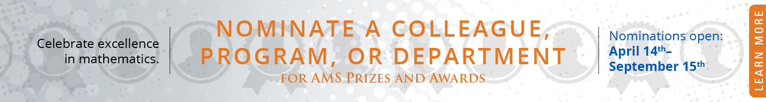 Nominations open for AMS Prizes and Awards
