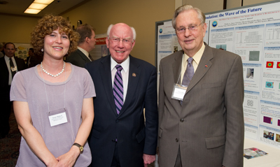 Prof. Sue Minkoff  with Rep. Vernon Ehlers (R-MI) and Dr. Arden Bement, former Director of the National Science Foundation