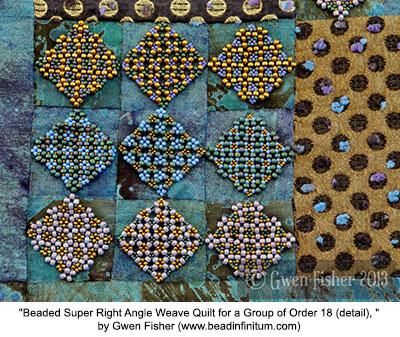 Beaded quilt 18 (detail)