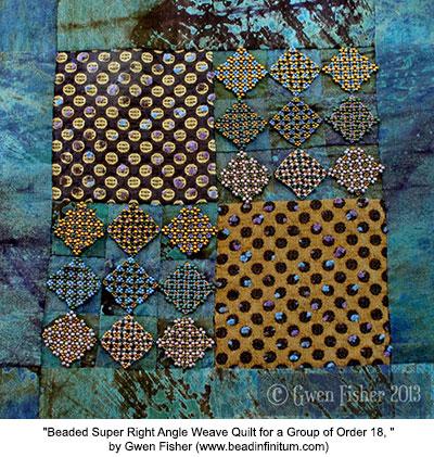 Beaded quilt 18