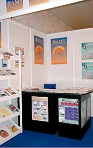 The AMS Public Awareness and Membership exhibit