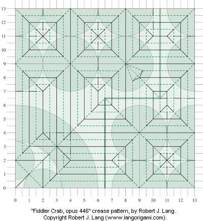 Fiddler Crab crease pattern