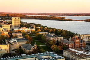 aerial picture of University of Wisconsin