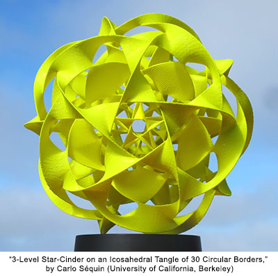 3-Level Star-Cinder on an Icosahedral Tangle of 30 Circular Borders