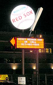 Sign at Fenway Park