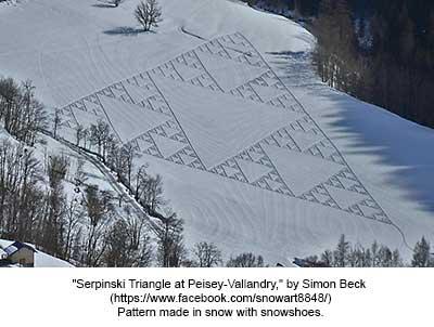 Serpinski Triangle at Peisey-Vallandry