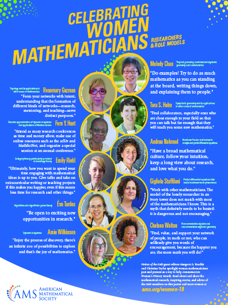 Celebrating Women Mathematicians