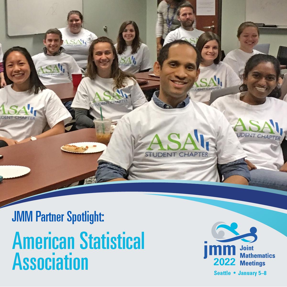Students sitting at tables wearing shirts that say ASA Student Chapter