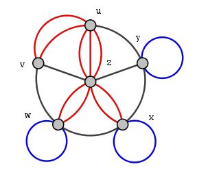 Graph with loops and multiple edges