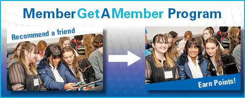 Five smiling mathematicians for Member Get a Member Program