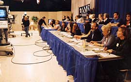 The phone bank and studio