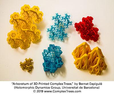 Arboretum of 3D-Printed Complex Trees