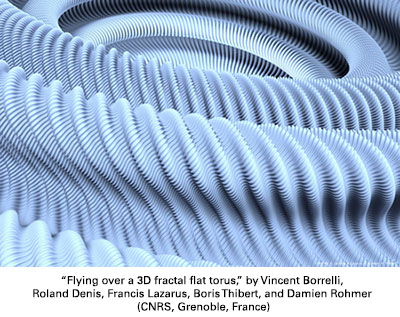 Flying over a 3D fractal flat torus
